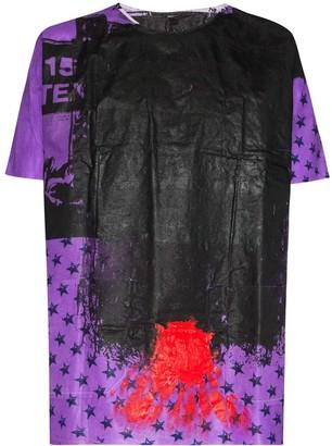 Raf Simons painted print T-shirt