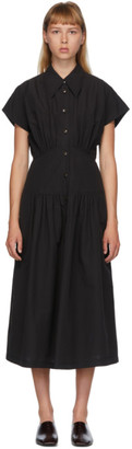 Low Classic Black Waist Shirring Dress