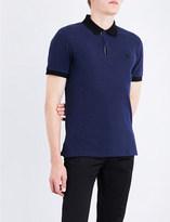 Burberry Logo-embroidered cotton-piqué polo shirt