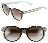 Fendi Women's 50Mm Round Sunglasses - Black/ Crystal