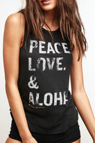 Spiritual Gangster Black Aloha Sleeveless Top