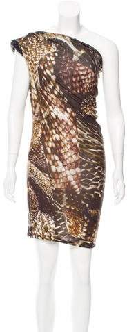 Lanvin One-Shoulder Embellished Dress