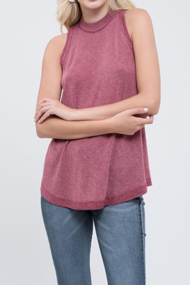 Blu Pepper Mock Neck Sleeveless Knit Top