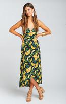 MUMU Meghan Wrap Dress ~ Gone Bananas Pebble