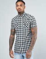 Diesel S-Zule-Short Sleeve Shirt Check Western