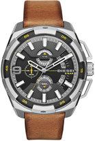Diesel Men's Chronograph Heavyweight Light Brown Leather Strap Watch 50x56mm DZ4393
