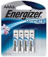Energizer 8-pack Ultimate Lithium AAA Batteries