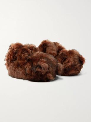 Vetements Hug Me Bear Shearling Slippers