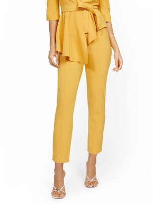 New York & Co. Yellow Back-Zip Straight-Leg Pant - 7th Avenue