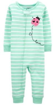 Carter's Baby Girls Ladybug Footless Pajamas