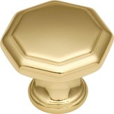 Hickory Hardware P14004-3 1.12 In. Conquest Polished Brass Cabinet Knob