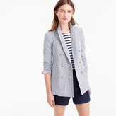 J.Crew Double-breasted gingham blazer