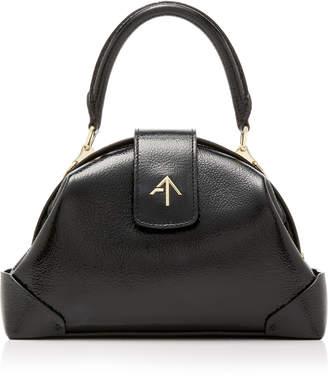 Atelier Manu Demi Patent Leather Top Handle Bag