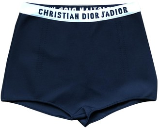 Christian Dior Black Viscose Shorts