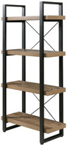 Onespace Bourbon Foundry 4-Tier Bookshelf, Wood And Black Steel