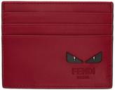 Fendi Red bag Bugs Card Holder