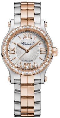 Chopard Rose Gold and Stainless Steel Happy Sport Automatic Watch 30mm