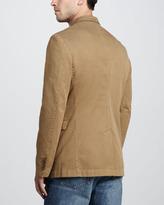 Burberry Twill Sport Coat, Dark Honey