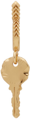 Emanuele Bicocchi Gold Single Key Hoop Earring