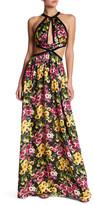 Jay Godfrey Floral Cutout Maxi Dress