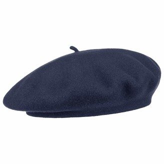 Barascon Beret with Cashmere Basque Womens (One Size - Navy)