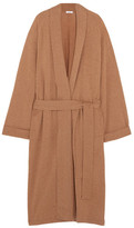 Eres Frileuse Loving Wool And Cashmere-blend Robe - Sand