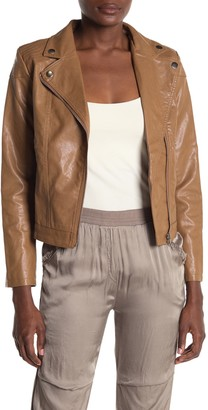 Tov Faux Leather Moto Jacket