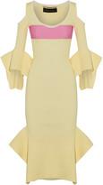 Roland Mouret Corely Cold-shoulder Ribbed-knit Midi Dress - medium