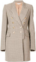 Stella McCartney checked double breasted coat