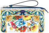 Dolce & Gabbana Majolica clutch bag - women - Calf Leather - One Size