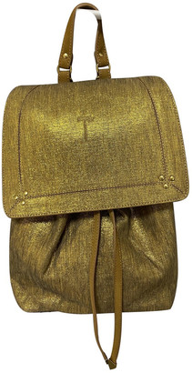 Jerome Dreyfuss Gold Glitter Backpacks