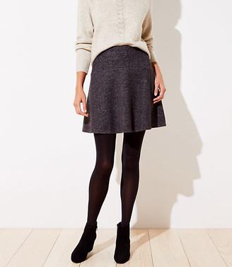 LOFT Petite Textured Flippy Skirt