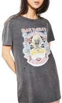 Topshop Women's By And Finally Iron Maiden T-Shirt Dress
