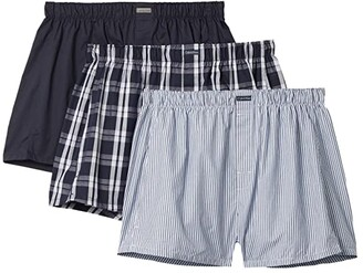 Calvin Klein Underwear Cotton Classics Multipack Pack Woven Boxer (Black) Men's Underwear