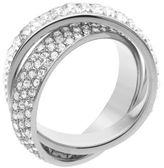 Michael Kors Silver-Tone Pave Intertwined Ring