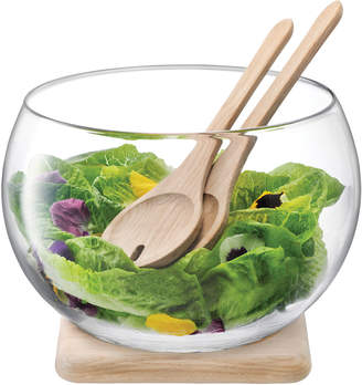 LSA International Salad Set with Oak Base