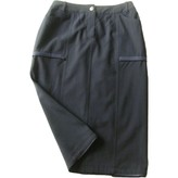 John Galliano Blue Wool Skirt for Women Vintage