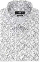 DKNY Men's Slim-Fit Stretch Print Dress Shirt