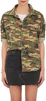 NSF Women's Paint-Splatter-Detailed Camouflage Cotton Shirt