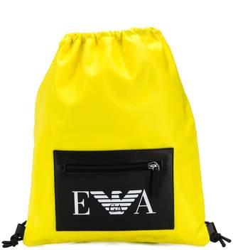 Emporio Armani drawstring fastening backpack