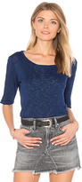 Velvet by Graham & Spencer Janey Tee in Blue. - size L (also in XS)