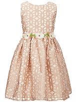 Jayne Copeland Big Girls 7-12 Floral-Burnout Fit-And-Flare Dress