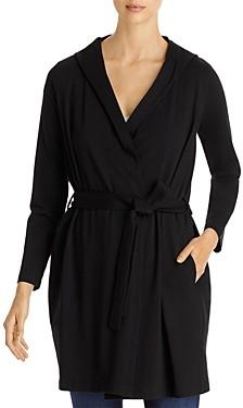 Eileen Fisher Hooded Wrap Jacket