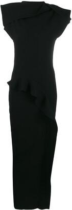 Rick Owens ruffles fitted dress