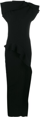 Rick Owens Ruffles Fitted Dress