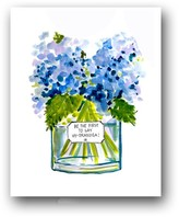 """The Well Appointed House """"Be the First to Say Hy-drangea"""" Colorful Flower Art Print"""