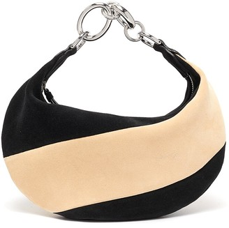 BY FAR 'Bougie' colourblock suede slouchy hobo bag