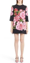 Dolce & Gabbana Women's Rose Print Cady Shift Dress