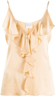 Forte Forte Ruffled-Neck Camisole Top