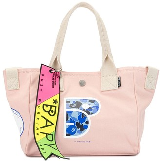 Bapy By *A Bathing Ape® Printed Canvas Shopper Bag